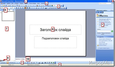 Вікно програми PowerPoint