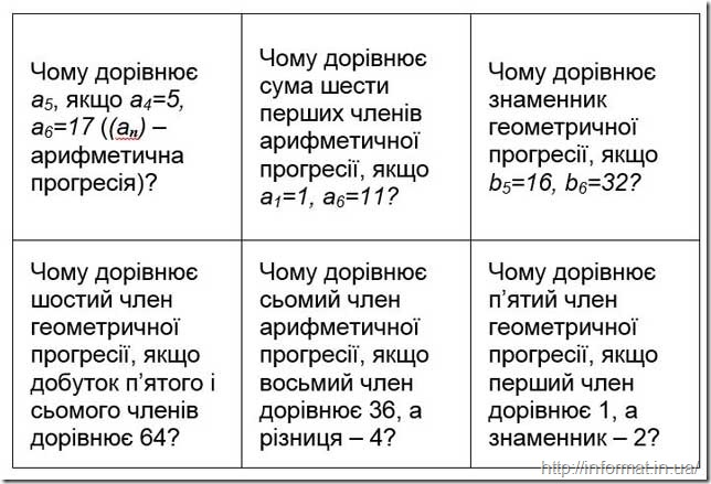 Завдання на конкурс Математична естафета