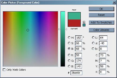 Вибір відтінку по яскравості в моделі HSB